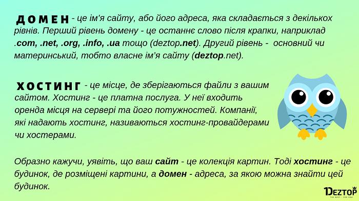 домен та хостинг