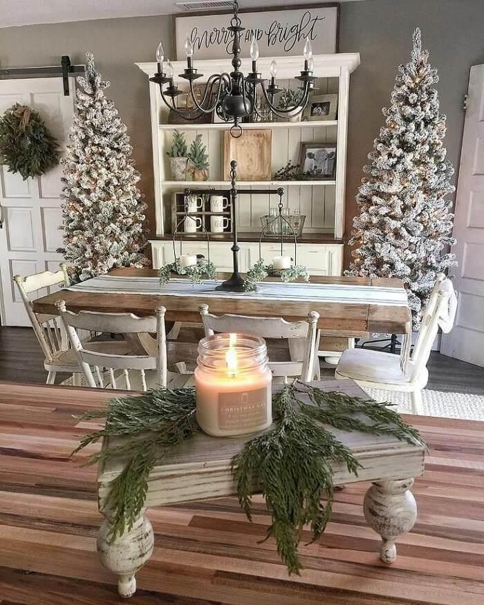 різдвяний декор дому у скандинавському стилі