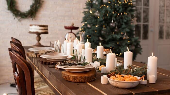 новорічний декор із натуральних елементів