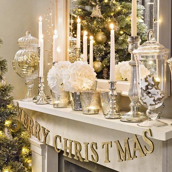новорічний декор у золотому кольорі