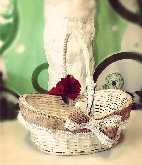 Декор кошика мішковиною