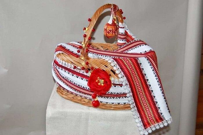 Великодній кошик в етно-стилі