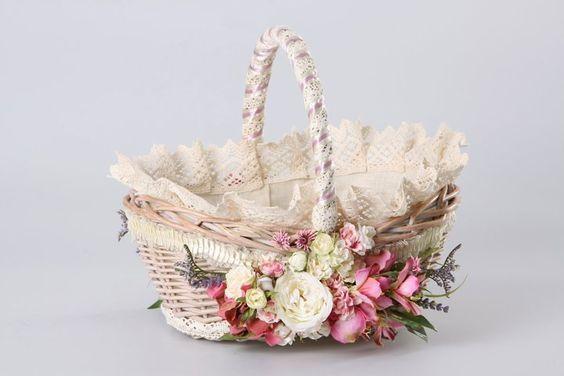 Декор кошика квітами