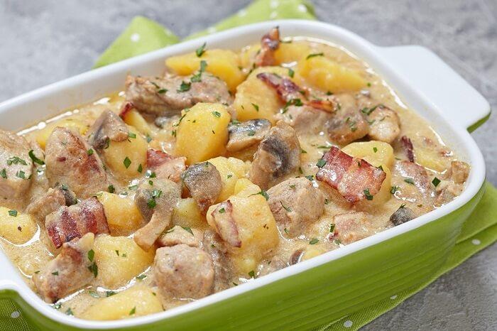 рецепт картоплі з грибами