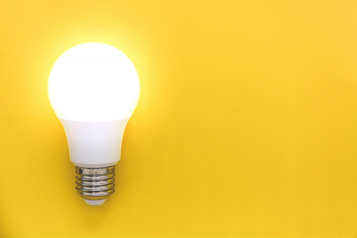 led-light-bulb-yellow-background-concept-ideas-creativity-innovation-saving-energy-copy-space-top-view-flat-lay